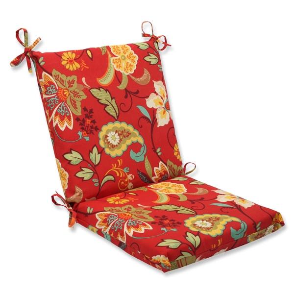 Pillow Perfect Outdoor Tamariu Alfresco Valencia Squared Corners Chair Cushion