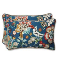 Pillow Perfect Outdoor Telfair Peacock Rectangular Throw Pillow (Set of 2)
