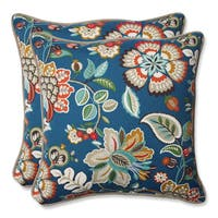 Pillow Perfect Outdoor Telfair Peacock 18.5-inch Throw Pillow (Set of 2)