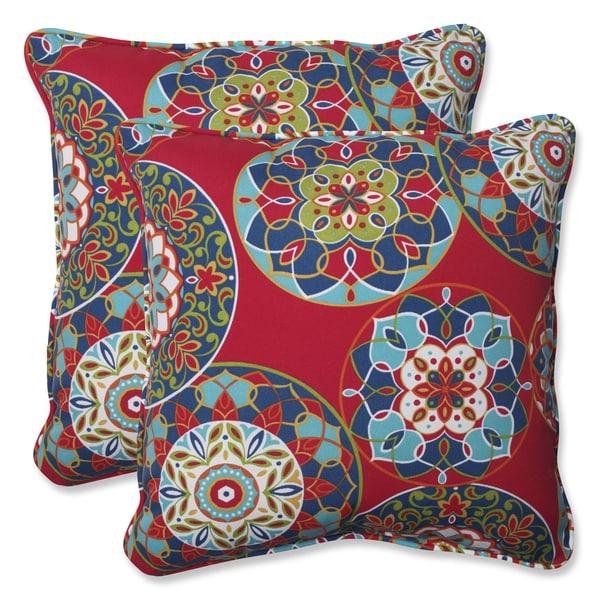 Shop Pillow Perfect Outdoor Cera Garden 18 5 Inch Throw