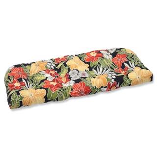Pillow Perfect Outdoor Clemens Noir Wicker Loveseat Cushion