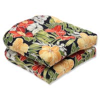 Pillow Perfect Outdoor Clemens Noir Wicker Seat Cushion (Set of 2)