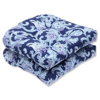 Pillow Perfect Outdoor Lahaye Indigo Wicker Seat Cushion (Set of 2)