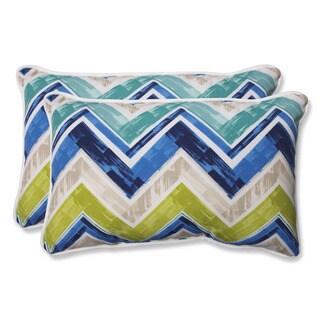 Pillow Perfect Outdoor Marquesa Marine Rectangular Throw Pillow (Set of 2)