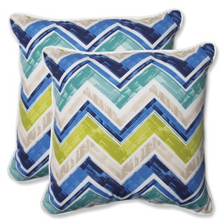 Pillow Perfect Outdoor Marquesa Marine 18.5-inch Throw Pillow (Set of 2)