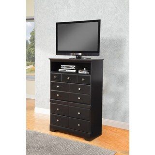 Sandberg Furniture Black Elena 4-drawer TV Chest