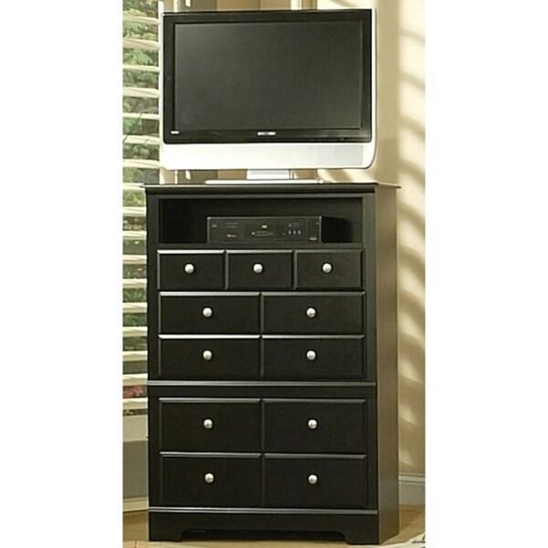 Sandberg Furniture Black Elena 4 Drawer Tv Chest Free