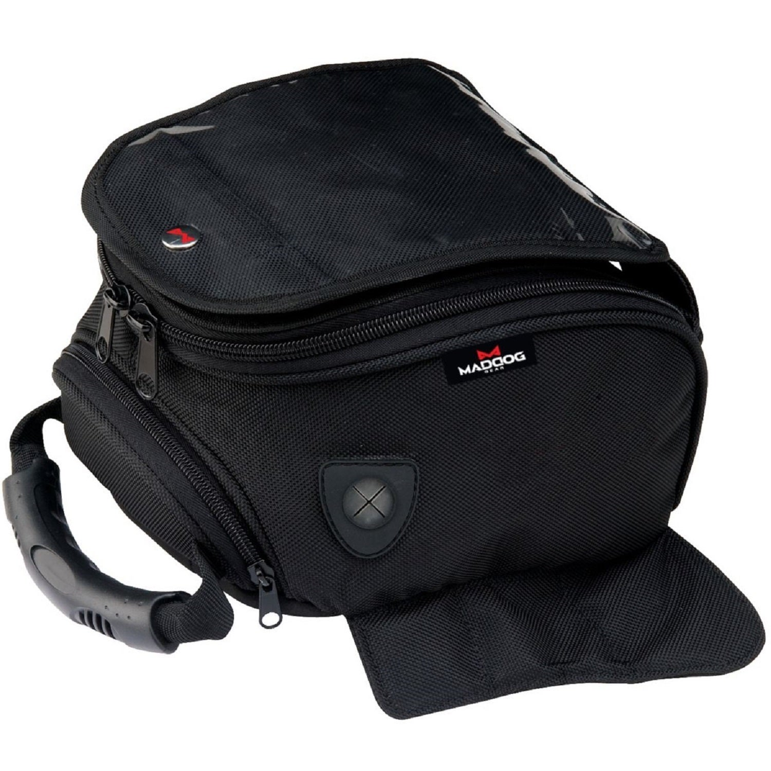 MadDog Gear Motorcycle Magnetic Tank Bag (Black)