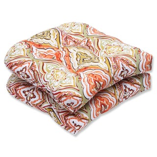 Pillow Perfect Outdoor Montrese Desert Wicker Seat Cushion (Set of 2)