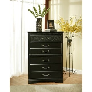 Sandberg Furniture Black Granada 5-drawer Chest