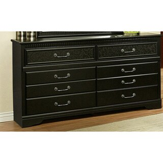 Sandberg Furniture Black Granada 6-drawer Dresser