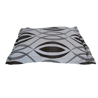 Anima Silver/ Black Classic Print Woven Plush Pillow
