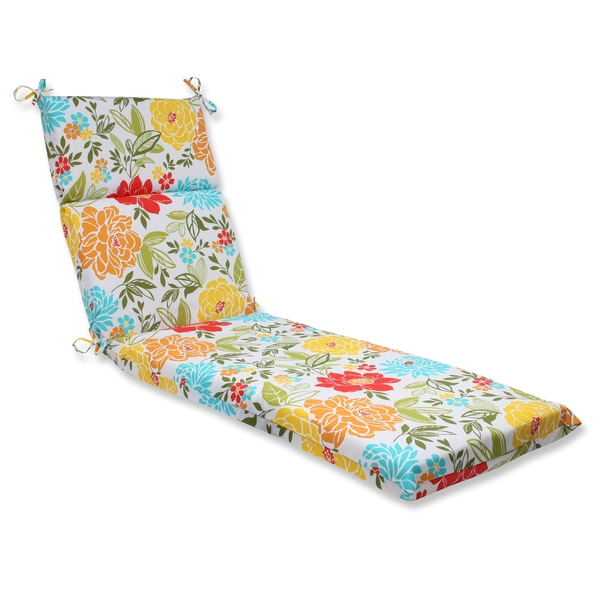 Pillow Perfect Outdoor Spring Bling Multi Chaise Lounge Cushion