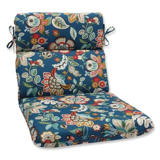 Pillow Perfect Outdoor Telfair Peacock Rounded Corners Chair Cushion