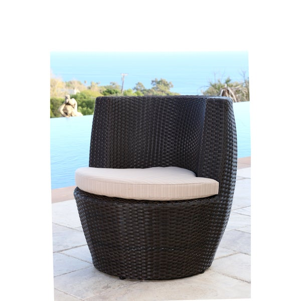 Shop Abbyson Newport Outdoor Espresso Brown Wicker Bistro Chair On