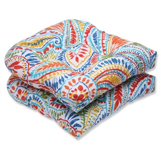 Pillow Perfect Outdoor Ummi Multi Wicker Seat Cushion (Set of 2)