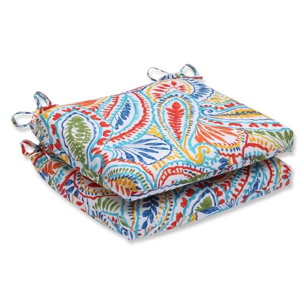 Pillow Perfect Outdoor Ummi Multi Squared Corners Seat Cushion (Set of 2)
