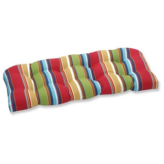 Pillow Perfect Outdoor Westport Garden Wicker Loveseat Cushion