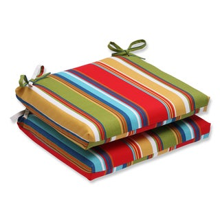 Pillow Perfect Outdoor Westport Garden Squared Corners Seat Cushion (Set of 2)