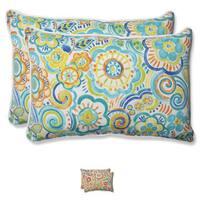 Pillow Perfect Outdoor Bronwood Over-sized Rectangular Throw Pillow (Set of 2)