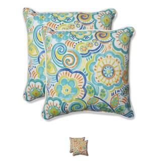 Pillow Perfect Outdoor Bronwood 18.5-inch Throw Pillow (Set of 2)