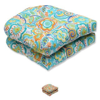 Pillow Perfect Outdoor Bronwood Wicker Seat Cushion (Set of 2)