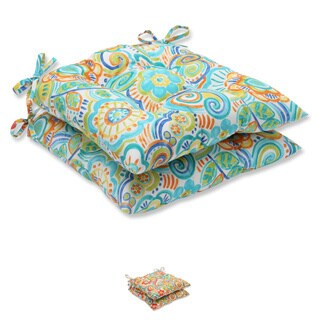 Pillow Perfect Outdoor Bronwood Wrought Iron Seat Cushion (Set of 2)