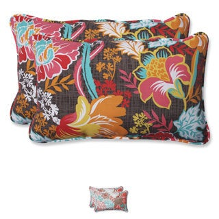 Pillow Perfect Outdoor Suzanne Rectangular Throw Pillow (Set of 2)