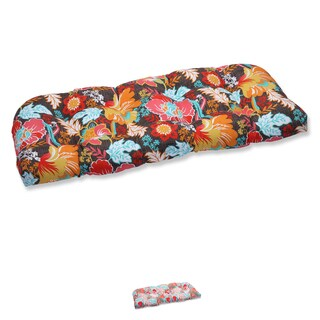 Pillow Perfect Outdoor Suzanne Wicker Loveseat Cushion