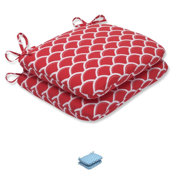 Pillow Perfect Outdoor Sunny Rounded Corners Seat Cushion (Set of 2)