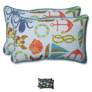 Pillow Perfect Outdoor Seapoint Rectangular Throw Pillow (Set of 2)
