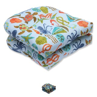 Pillow Perfect Outdoor Seapoint Wicker Seat Cushion (Set of 2)