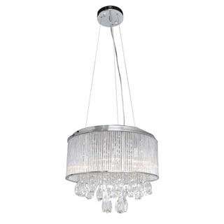 Gala 15-light Chrome and Crystal Pendant - Silver