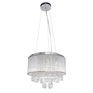 Gala 15-light Chrome and Crystal Pendant - Silver