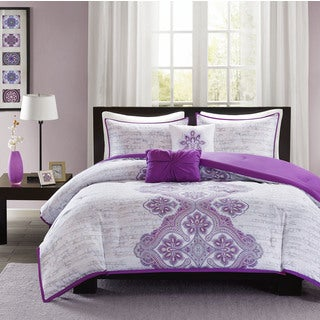 Intelligent Design Hannah Purple Comforter Set