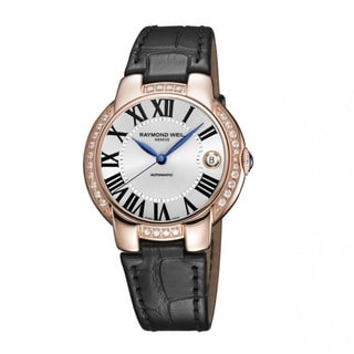 "Raymond Weil Women's 2935-PCS-00659 ""Jasmine"" Automatic Diamond Bezel Leather Watch"