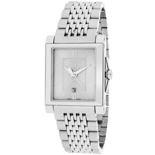 771f0edd636 Shop Gucci Women s YA138501  G-Timeless  Rectangle Swiss Quartz Stainless  Steel Watch - Free Shipping Today - Overstock - 9772564