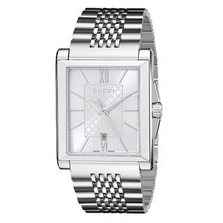 Gucci Women's YA138501 'G-Timeless' Rectangle Swiss Quartz Stainless Steel Watch