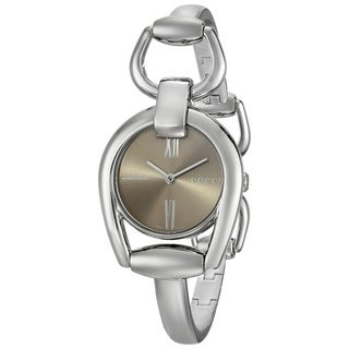 Gucci Women's YA139501 'Horsebit' Swiss Quartz Stainless Steel Bangle Watch