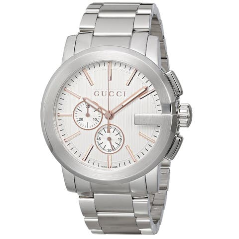 4d4cf0bf92c Gucci Men s YA101201  Gucci G Chrono  Chronograph Swiss Quartz Stainless  Steel Watch