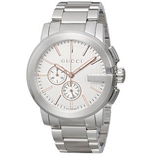 Gucci Men's YA101201 'Gucci G Chrono' Chronograph Swiss Quartz Stainless Steel Watch