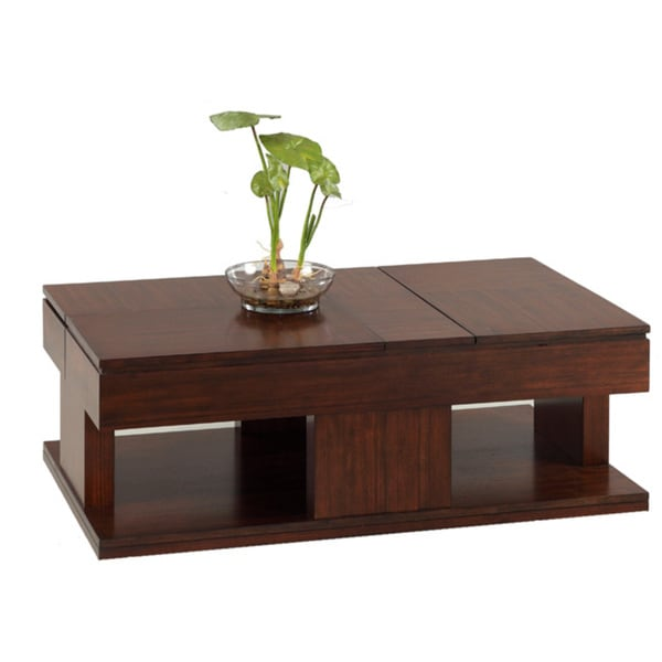 Shop Le Mans Mozambique Double Lifttop Coffee Table Free Shipping - Double lift top cocktail table