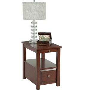 Birch Veneer Chairside Side Table
