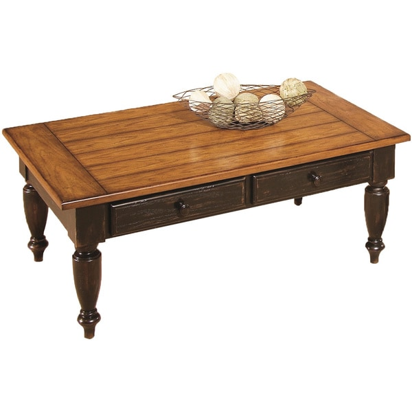 Country Vista Antique Black Oak Coffee Table Free Shipping Today 16942766