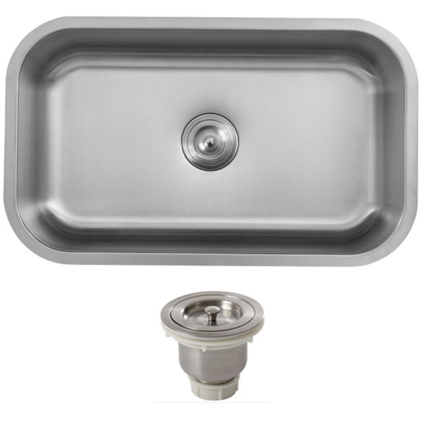 16 Gauge Undermount Kitchen Sink : ... 31.5-inch Stainless Steel 16-gauge Undermount Single Bowl Kitchen Sink
