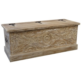 Christopher Knight Home Rustic Wooden Trunk