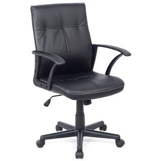 CorLiving WHL-101-C Black Leatherette Office Desk Chair