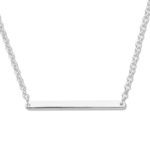 La Preciosa Sterling Silver Bar Necklace