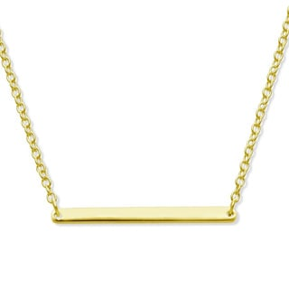 La Preciosa Sterling Silver Bar Necklace
