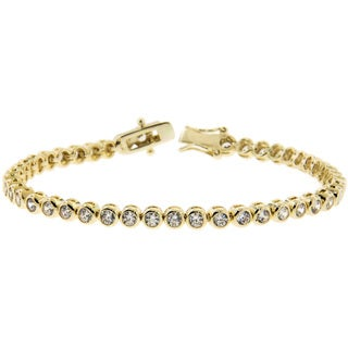 Eternally Haute Goldplated Bezel-set 6.6ct TGW Cubic Zirconia Tennis Bracelet